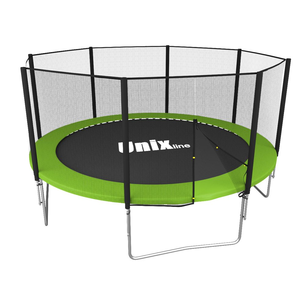 Батут Unix line Simple 12 ft green outside